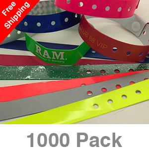1000 Custom Plastic Wristbands