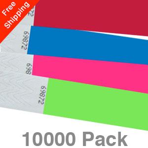 10000 Plain Tyvek Wristbands
