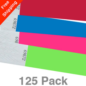 125 Plain Tyvek Wristbands