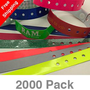 2000 Custom Plastic Wristbands