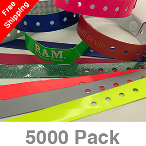 5000 Custom Plastic Wristbands